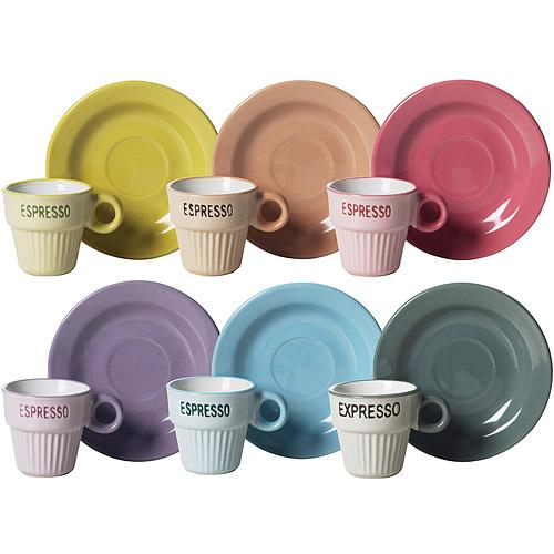 ~EXCELSA~復古濃縮咖啡杯碟組6件^(60ml^)