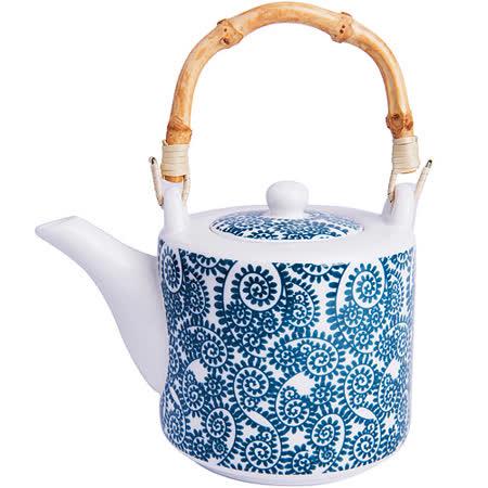 《EXCELSA》Oriented竹柄過濾茶壺(藤蔓藍0.55L)