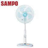 【SAMPO聲寶】14吋微電腦夜燈遙控定時桌立扇/電扇(SK-FU14R)