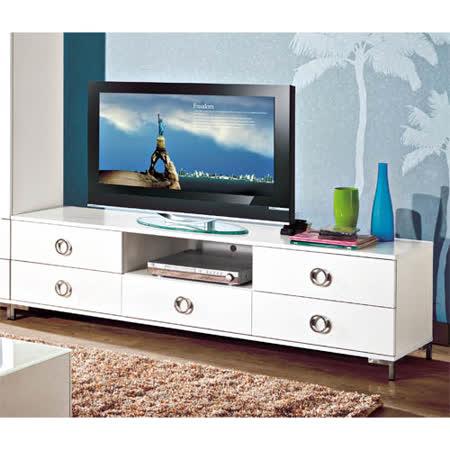 珞雅白色6尺電視櫃