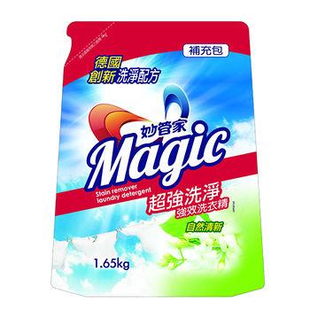 妙管家強效洗衣精自然清新補充包1650g