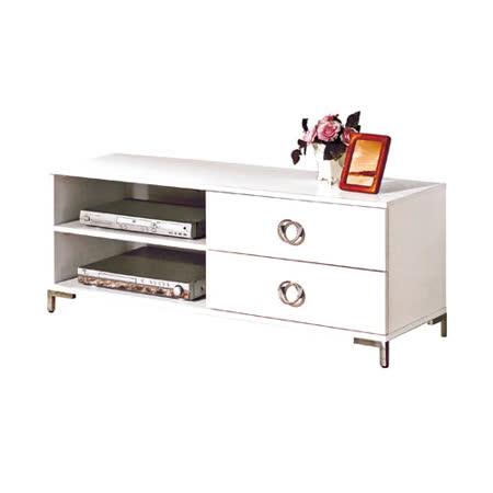 珞雅白色4尺電視櫃