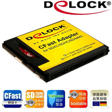 Delock SD to CFast card Type II極致轉接卡-62671