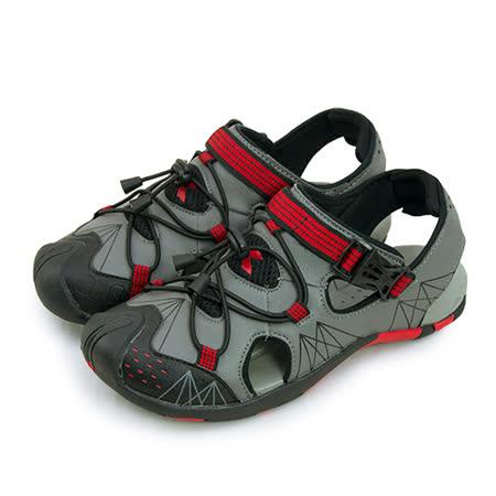 【男】DIADORA 戶外輕量運動涼鞋 深灰紅 2138