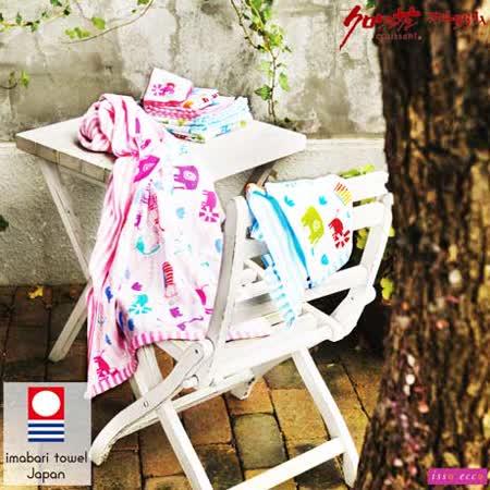 【クロワッサン科羅沙】日本ISSO ECCO今治(imabari towel)~無撚棉紗逛街動物毛巾 34*80cm