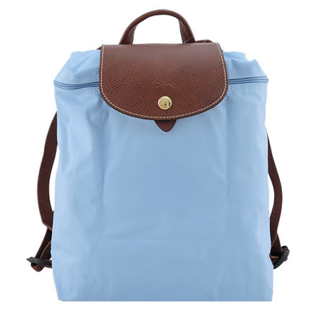 LONGCHAMP Le Pliage 摺疊後背包(粉藍)