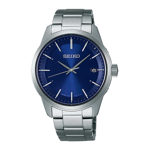 SEIKO 簡約時尚太陽能電波男用腕錶-40mm/7B24-0BJB(SBTM231J)