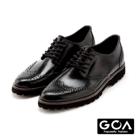 【網購】gohappy線上購物GOA 男款紳士低筒牛津雕花雨鞋-沉穩黑心得復興 愛 買