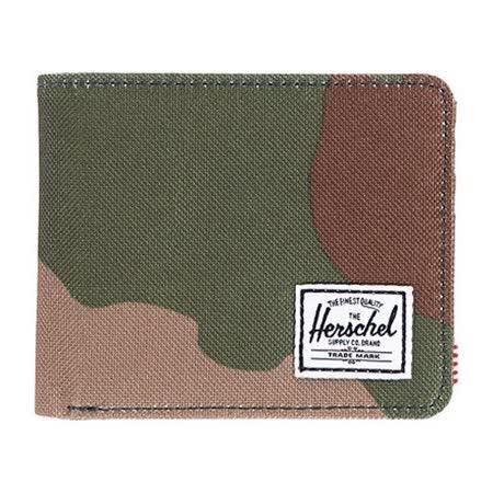 【Herschel】2016男時尚塗層棉織綠迷彩色皮夾【預購】