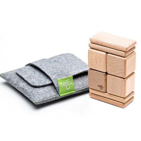 美國 Tegu 無毒安全磁性積木 - 口袋系列 經典款  (淺木色)