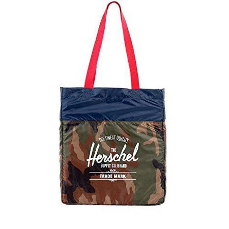 【Herschel】2016時尚綠迷彩色可壓縮手提包【預購】