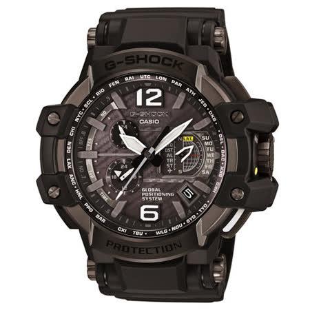 G-SHOCK GPS電波高性能概念錶-黑框X黑面/56mm/GPW-1000-1B