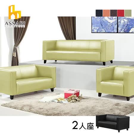 ASSARI-安東尼簡約造型雙人皮沙發