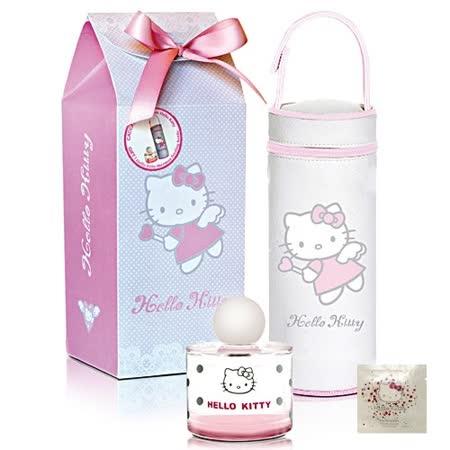 Hello Kitty 甜心寶貝保冷袋淡香水禮盒(BABY100ml+膳魔師保冷袋+香氛濕紙巾)