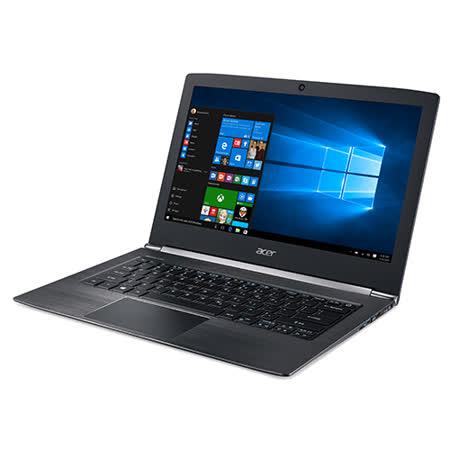 【ACER宏碁】S5-371-50VC 13.3吋 (I5-6200U/8G/256G SSD/Win10) 僅重1.3公斤(黑)-贈藍芽喇叭+32G隨身碟
