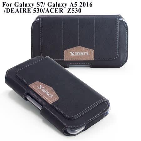 X_mart 三星 Galaxy S7 /Galaxy A5 2016/ DEAIRE 530/ ACER Z530 流行潮流腰掛皮套
