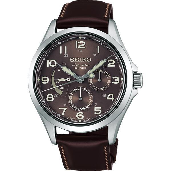 SEIKO Presage 日曆 機械錶~咖啡40.5mm 6R21~01A0B^(SAR
