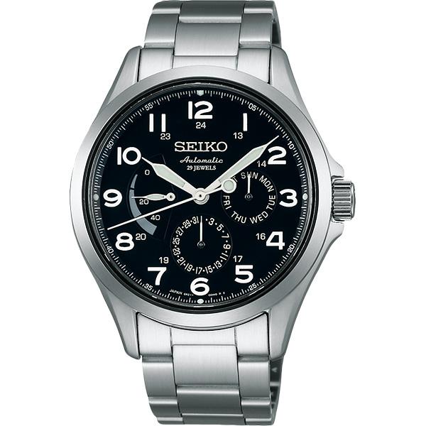 SEIKO Presage 日曆 機械錶~黑40mm 6R21~01A0D^(SARW01