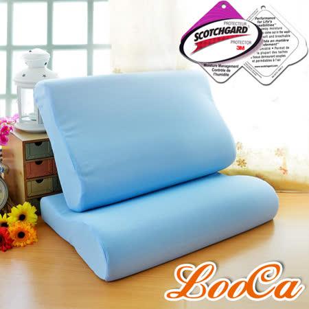 (團購1入)【LooCa】吸濕排汗人體工學記憶枕