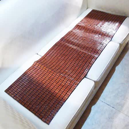今年最新款 SHINEE 《極小粒 孟宗竹麻將涼蓆坐墊》涼爽型 炭化型 三人座(50X160CM )