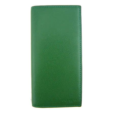 COACH 簡約防刮兩折長夾(綠)
