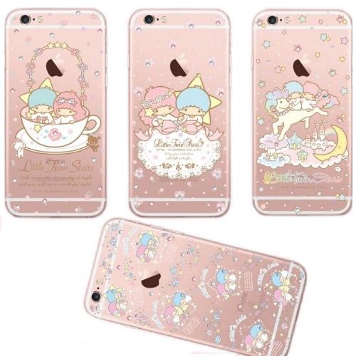 【雙子星】iPhone6 /6s 彩鑽透明庇護軟套