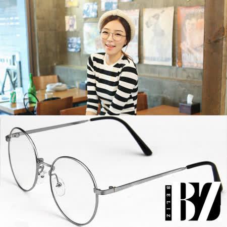【BeLiz】書香文青*圓框細銀平光眼鏡
