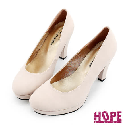 【HOPE】MIT氣質高雅素面高跟鞋–粉(K130DF4020)