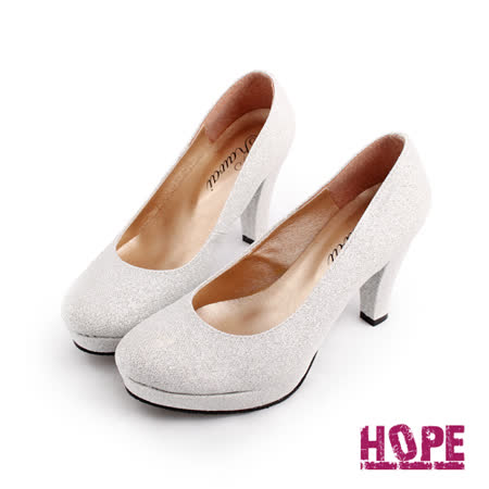 【HOPE】MIT氣質高雅素面高跟鞋–銀(K130DF4020)