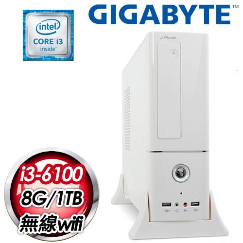 技嘉H170平台~封鎖至尊~Intel Core i3~6100 8G 1TB WIFI無
