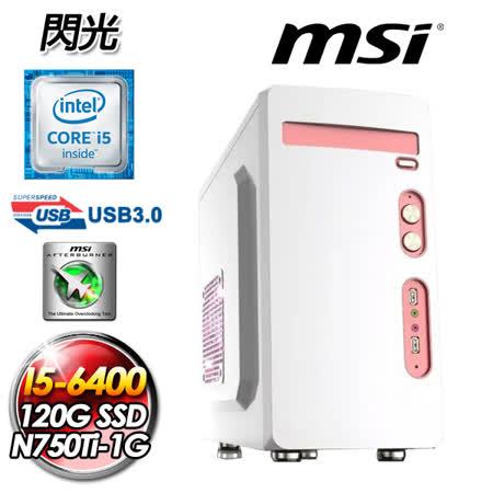 微星H110平台【閃光】Intel I5-6400四核 N750Ti-1GD5/OC獨顯 120GSSD 入門電競機