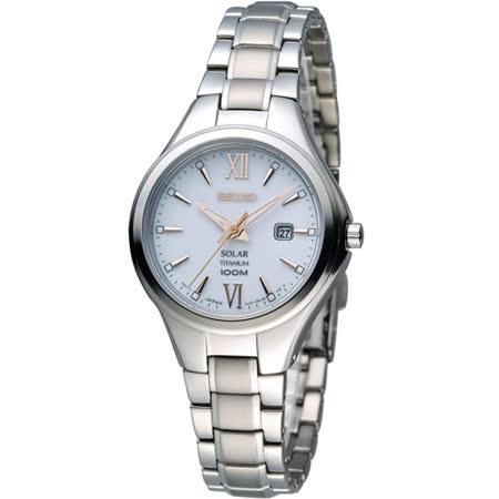 SEIKO Solar 經典之選 時尚腕錶.太陽能充電電池 V137-0BG0W SUT271P1
