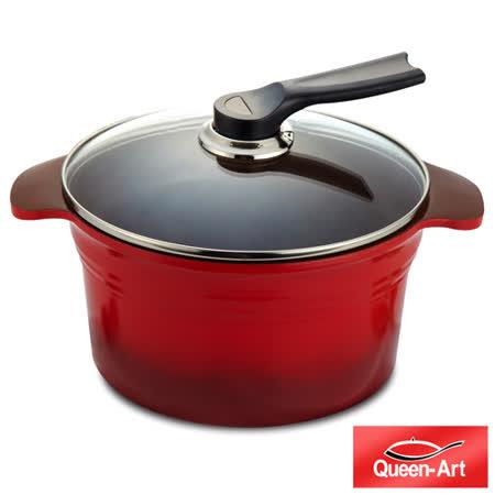 【私心大推】gohappy快樂購物網韓國Queen Art雙耳鑄造陶瓷湯鍋24CM(1鍋+1蓋)價錢新竹 愛 買 美食