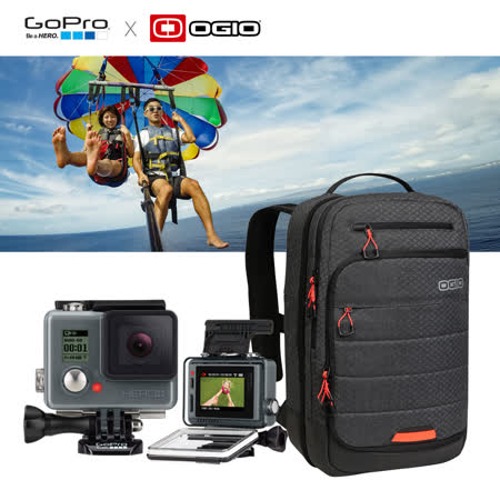 【GoPro】HERO入門版+LCD + OGIO雙肩後背包組