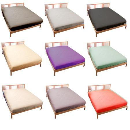 LUST素色簡約【玩色專家】100%純棉、雙人5尺(單品)精梳棉床包 (不含被套/不含枕套)、 居家簡約