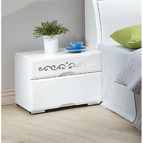 淨美純白床頭櫃(單只)