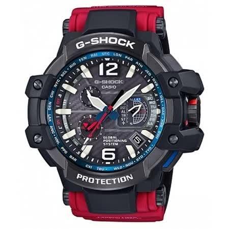 G-SHOCK 為強悍而生高規格衛星校時電波錶/GPW-1000RD-4A/防水/防撞/防塵