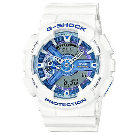 G-SHOCK 夏日海風多層次休閒時尚運動腕錶-51mm/GA-110WB-7A/防水/防撞