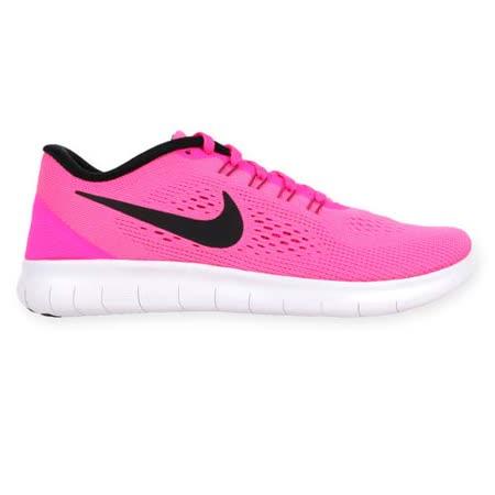 (女) NIKE WMNS FREE RN 慢跑鞋 - 路跑 輕跑鞋 粉紅白