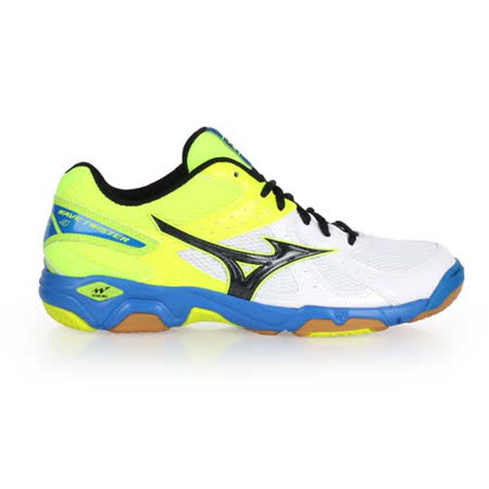 (男女) MIZUNO WAVE TWISTER 4 排球鞋-美津濃 螢光綠白