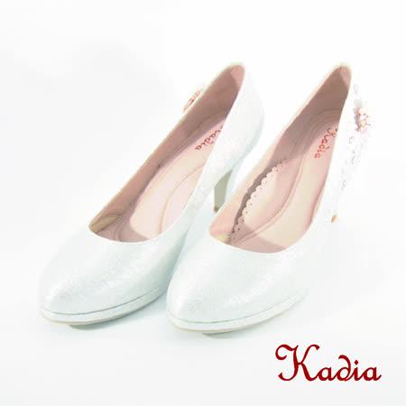 Kadia.浪漫花嫁水鑽高跟鞋(銀色)