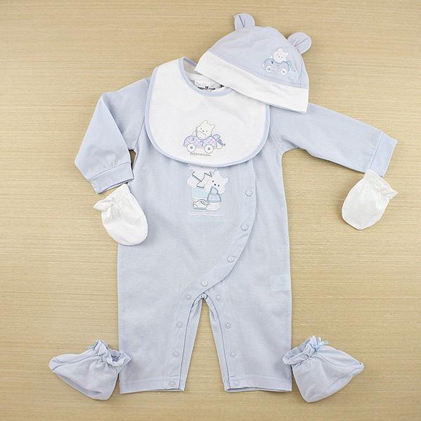 ~愛的世界~pappa ciccia 狗狗郊遊系列娃娃領衣連褲 6個月~1歲~ 製~