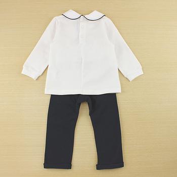 【愛的世界】pappa&ciccia 點點小兔系列娃娃領休閒套裝/1~4歲-台灣製-