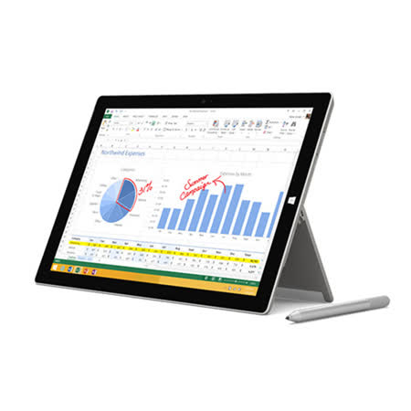 Microsoft微軟 Surface Pro 3  i5 4G/128GB Win8.1 Pro 12吋平板電腦(不含實體鍵盤)