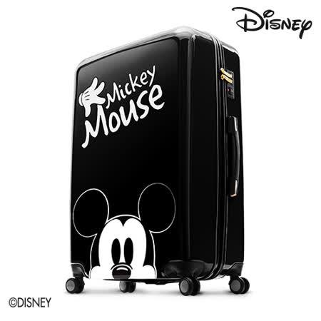 【Disney】米奇奇幻旅程24吋拉鍊行李箱-經典黑