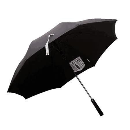 PUSH! 好聚好傘,99%抗紫外線降溫抗風多層雨傘戶外傘遮陽傘晴雨傘I31-1黑色配紐約時報口袋款.