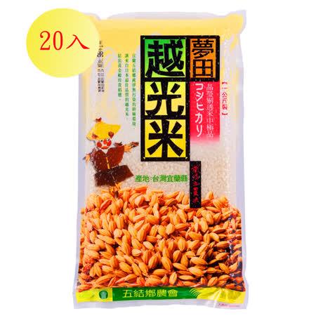 【蘭陽五農】夢田越光米1kg-20入