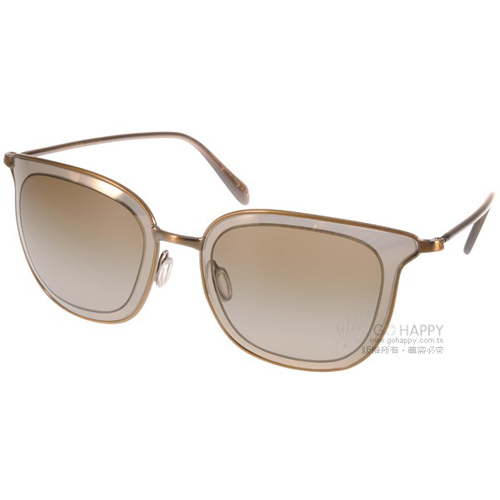 OLIVER PEOPLES太陽眼鏡 俏皮 ^(水銀金^) ^#ANNETTA 50391