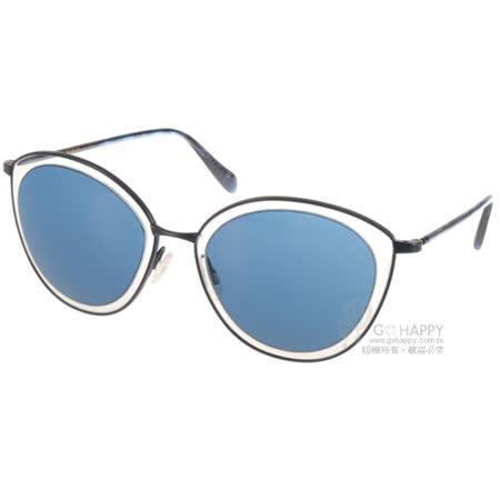 OLIVER PEOPLES太陽眼鏡  俏皮貓眼造型款(透明-黑) #GWYNNE 521880