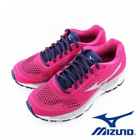 Mizuno 美津濃 休閒款女慢跑鞋 運動鞋 SYNCHRO MX (W)  (桃粉) - J1GF161904